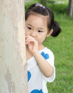 Shy little girl